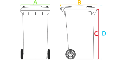 wheelie bin sizes western australia